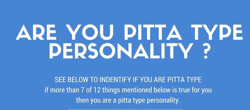 PITTA DOSHA PERSONALITY