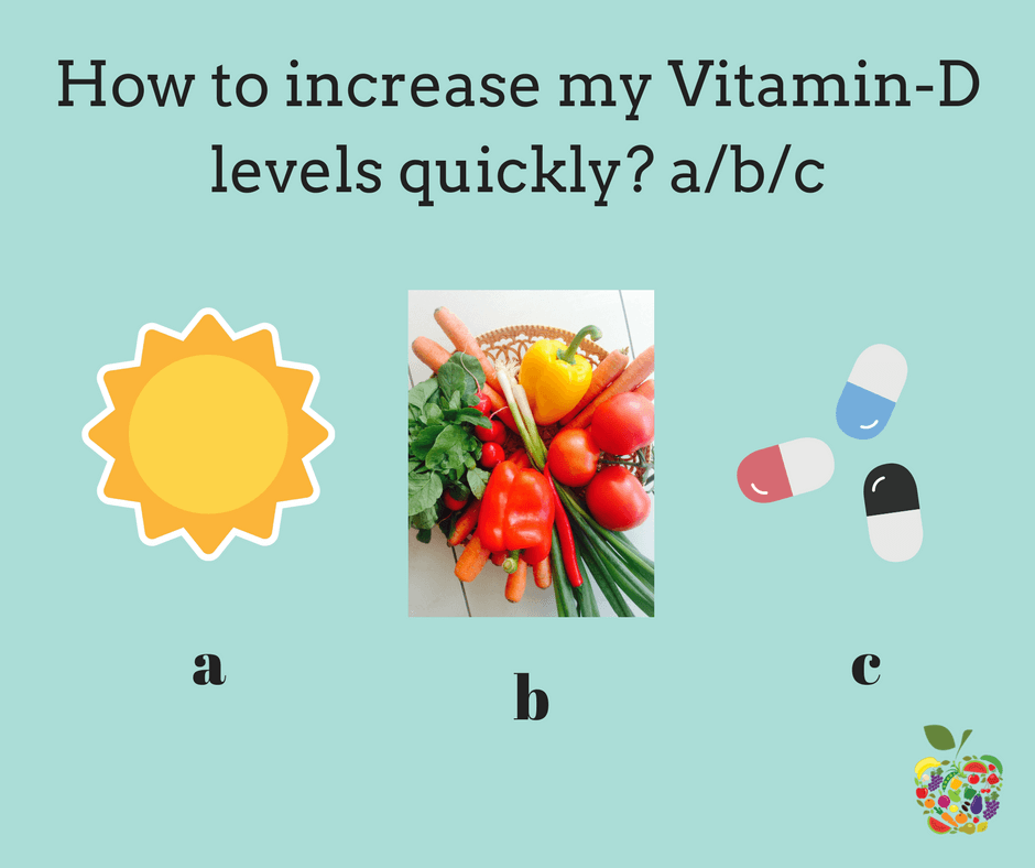 how to increase vitamin d levels quickly in India ?